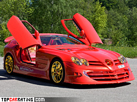 Mercedes-Benz SLR McLaren 999 Red Gold Dream Ueli Anliker 5.4 liter V8 RWD 2011