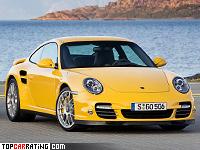 2009 Porsche 911 Turbo = 312 kph, 500 bhp, 3.7 sec.