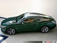 2008 Bentley Continental GTZ Zagato = 322 kph, 610 bhp, 4.5 sec.