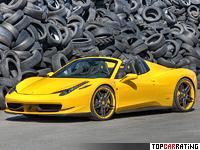 2012 Ferrari 458 Spider Novitec Rosso = 325 kph, 609 bhp, 3.3 sec.