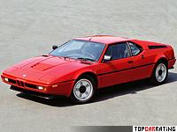 1978 BMW M1 = 262 kph, 277 bhp, 5.6 sec.
