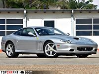 2002 Ferrari 575M Maranello = 325 kph, 515 bhp, 4.2 sec.