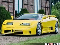 1993 Bugatti EB 110 Super Sport = 350 kph, 611 bhp, 3.2 sec.
