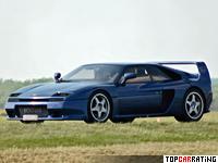 1994 Venturi 400 GT = 290 kph, 408 bhp, 4.2 sec.
