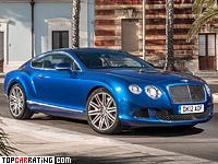 2012 Bentley Continental GT Speed = 329 kph, 625 bhp, 4.2 sec.