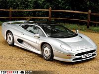 1991 Jaguar XJ220 = 359 kph, 550 bhp, 3.6 sec.