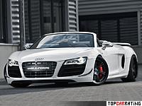 2012 Audi R8 Spyder GT Wheelsandmore Triad Bianco = 335 kph, 620 bhp, 3.6 sec.