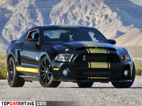 2012 Ford Mustang Shelby GT500 Super Snake 50th Anniversary = 330 kph, 800 bhp, 3.8 sec.