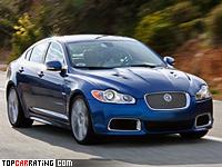 2009 Jaguar XFR = 250 kph, 507 bhp, 4.7 sec.