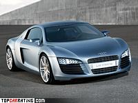 2003 Audi Le Mans Concept = 345 kph, 610 bhp, 3.6 sec.