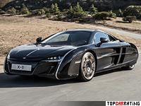 2012 McLaren X-1 Concept = 330 kph, 625 bhp, 3.2 sec.