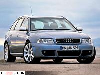 2000 Audi RS4 Avant (B5) = 250 kph, 381 bhp, 4.9 sec.