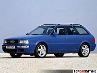 1994 Audi RS2 = 262 kph, 319 bhp, 4.8 sec.