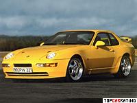 1993 Porsche 968 Turbo S = 283 kph, 305 bhp, 4.9 sec.