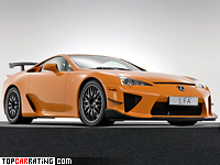 2010 Lexus LFA Nurburgring Performance Package = 325 kph, 571 bhp, 3.6 sec.