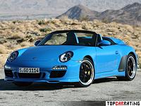 2010 Porsche 911 Speedster = 305 kph, 408 bhp, 4.4 sec.