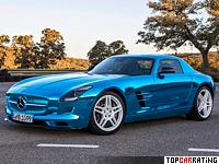 2013 Mercedes-Benz SLS AMG Electric Drive = 250 kph, 740 bhp, 3.9 sec.