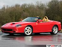 2000 Ferrari 550 Barchetta Pininfarina = 300 kph, 492 bhp, 4.5 sec.