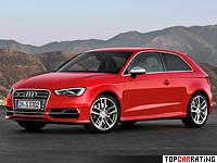 2013 Audi S3 (8V) = 250 kph, 300 bhp, 5.1 sec.