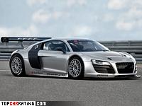 2008 Audi R8 LMS Prototype = 330 kph, 500 bhp, 3.3 sec.