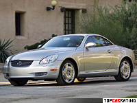 2001 Lexus SC 430 = 250 kph, 304 bhp, 6.9 sec.