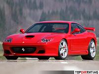 2005 Ferrari 575M Maranello Novitec Rosso = 330 kph, 533 bhp, 4.1 sec.