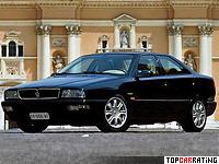 1998 Maserati Quattroporte Evoluzione V8 = 270 kph, 335 bhp, 5.8 sec.