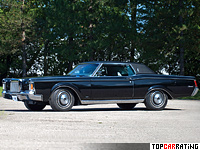 1970 Lincoln Continental Mark III = 209 kph, 370 bhp, 9 sec.