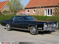1970 Cadillac Fleetwood Eldorado IV = 205 kph, 400 bhp, 8.1 sec.