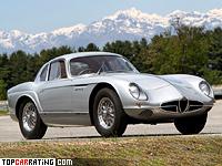 1954 Alfa Romeo 2000 Sportiva Scaglione Coupe = 220 kph, 140 bhp, 8.4 sec.