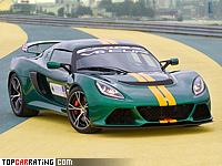 2012 Lotus Exige V6 Cup = 275 kph, 350 bhp, 3.8 sec.
