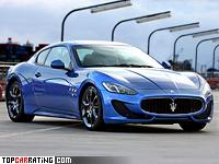 2012 Maserati GranTurismo Sport = 300 kph, 460 bhp, 4.7 sec.