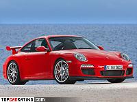 2009 Porsche 911 GT3 (997) = 312 kph, 435 bhp, 4.1 sec.