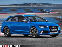 2013 Audi RS6 Avant = 305 kph, 560 bhp, 3.9 sec.