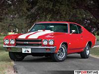 1970 Chevrolet Chevelle SS 454 LS6 Hardtop Coupe = 210 kph, 450 bhp, 5.8 sec.