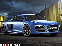 2013 Audi R8 V10 Plus = 320 kph, 550 bhp, 3.5 sec.