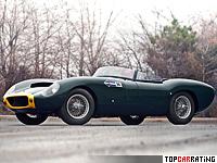 1959 Lister Jaguar Costin Roadster = 250 kph, 260 bhp, 5 sec.