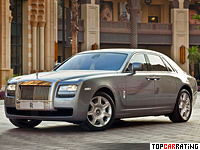 2009 Rolls-Royce Ghost = 250 kph, 570 bhp, 4.9 sec.