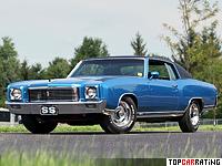 1970 Chevrolet Monte Carlo SS 454 = 206 kph, 450 bhp, 5.8 sec.