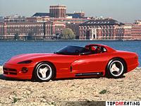 1989 Dodge Viper Concept VM-02 = 256 kph, 300 bhp, 4.6 sec.