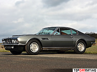 1970 Aston Martin DBS V8 = 255 kph, 381 bhp, 5.5 sec.