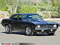 1969 Chevrolet Camaro ZL-1 = 215 kph, 430 bhp, 5.5 sec.