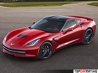 2013 Chevrolet Corvette Stingray (C7) = 306 kph, 460 bhp, 3.9 sec.