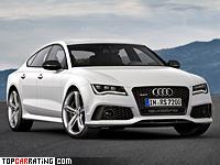 2013 Audi RS7 Sportback = 305 kph, 560 bhp, 3.9 sec.