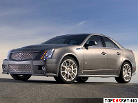2009 Cadillac CTS-V = 282 kph, 556 bhp, 4.15 sec.