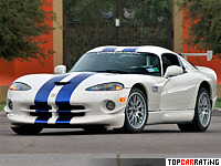 1998 Dodge Viper GTS-R GT2 Championship Edition = 298 kph, 460 bhp, 4.2 sec.