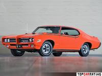1969 Pontiac GTO Judge Hardtop Coupe = 213 kph, 366 bhp, 5.2 sec.