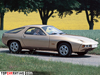 1977 Porsche 928 = 225 kph, 240 bhp, 7.2 sec.
