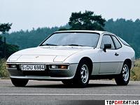 1976 Porsche 924 Coupe = 203 kph, 125 bhp, 9.5 sec.