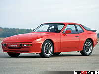 1982 Porsche 944 Coupe = 220 kph, 163 bhp, 7.4 sec.